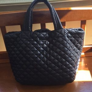 MZ Wallace quilted medium metro tote double handle